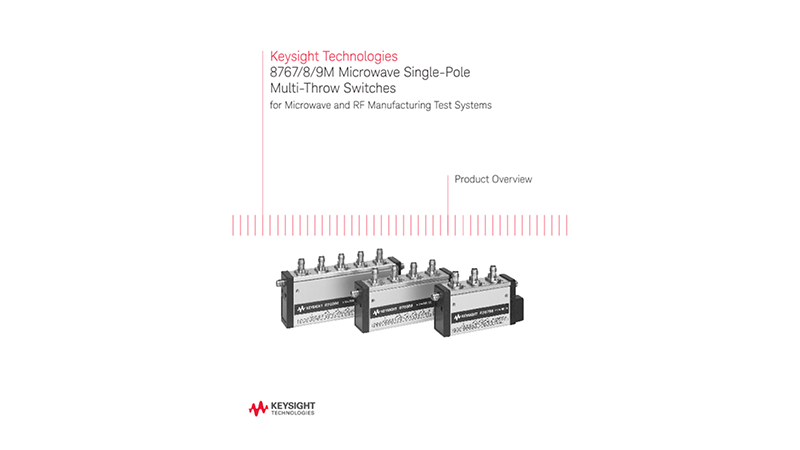 8767/8/9M Microwave Single-Pole Multi-Throw Switches for Microwave and RF Manufacturing Test Systems