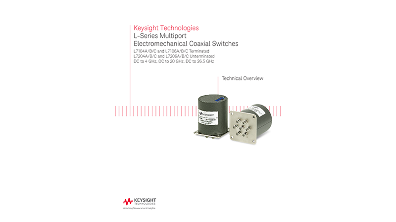 L-Series Multiport Electromechanical Coaxial Switches