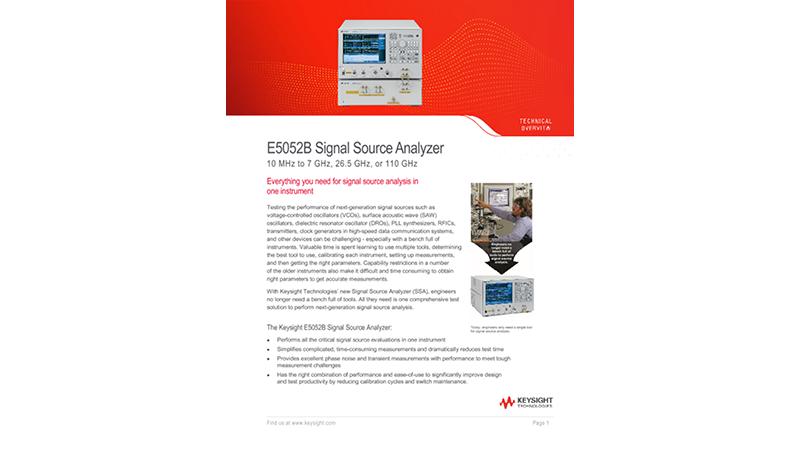 E5052B Signal Source Analyzer