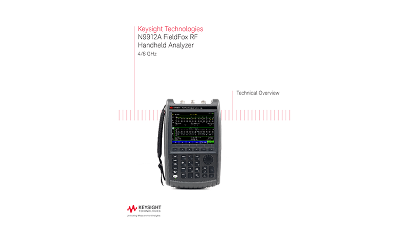 N9912A FieldFox RF Handheld Analyzer 4/6 GHz