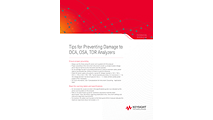 Tips for Preventing Damage to DCA, OSA, TDR Analyzers