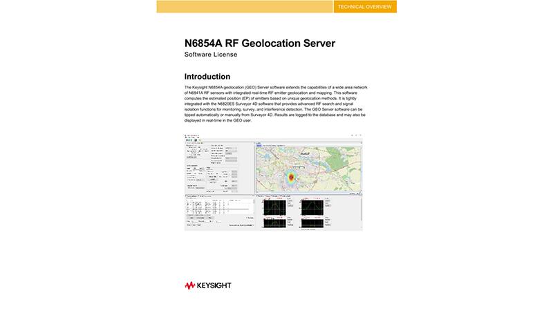 N6854A RF Geolocation Server Software