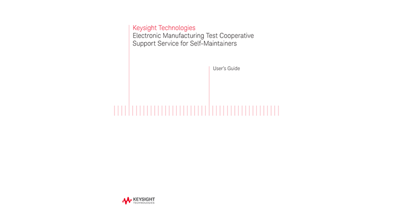 Electronic Manufacturing Test Cooperative Support Service for Self-Maintainers
