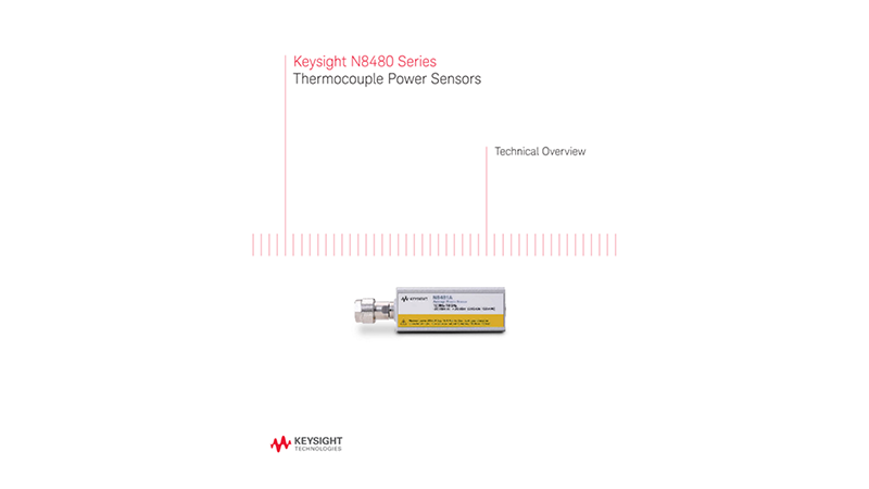 N8480 Series Thermocouple Power Sensors