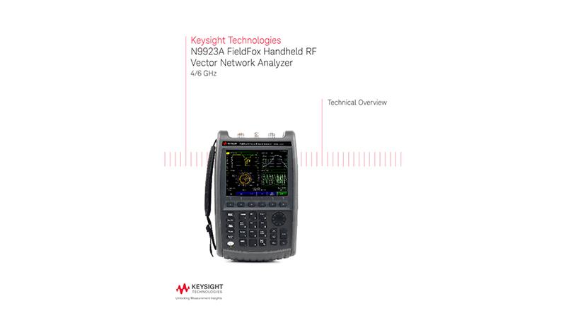 N9923A FieldFox Handheld RF Vector Network Analyzer 4/6 GHz