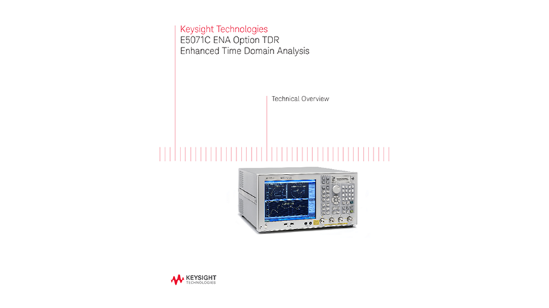 E5071C ENA Option TDR Enhanced Time Domain Analysis