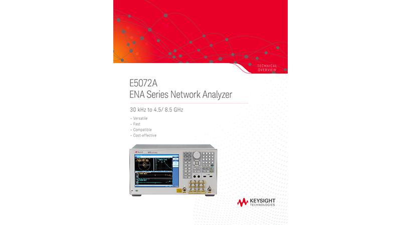 E5072A ENA Series Network Analyzer 30 kHz to 4.5/ 8.5 GHz