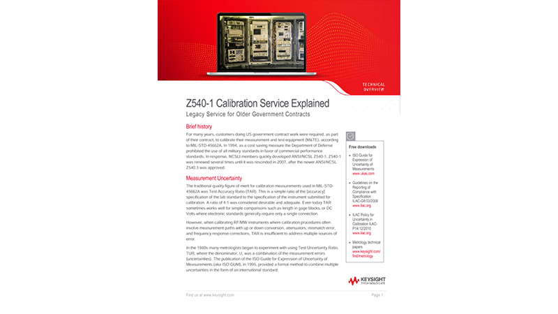 Z540-1 Calibration Services