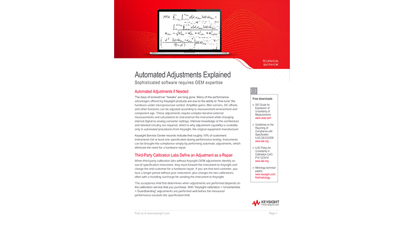 Automated Adjustments