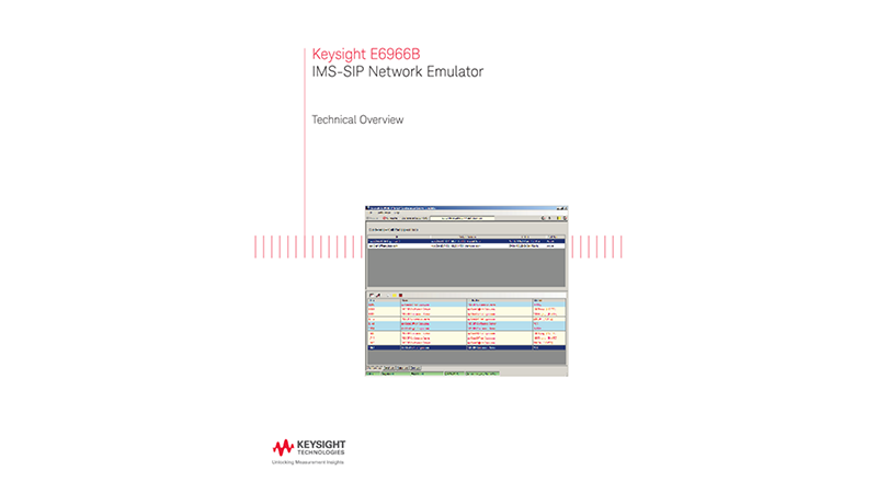 E6966A IMS-SIP Network Emulator