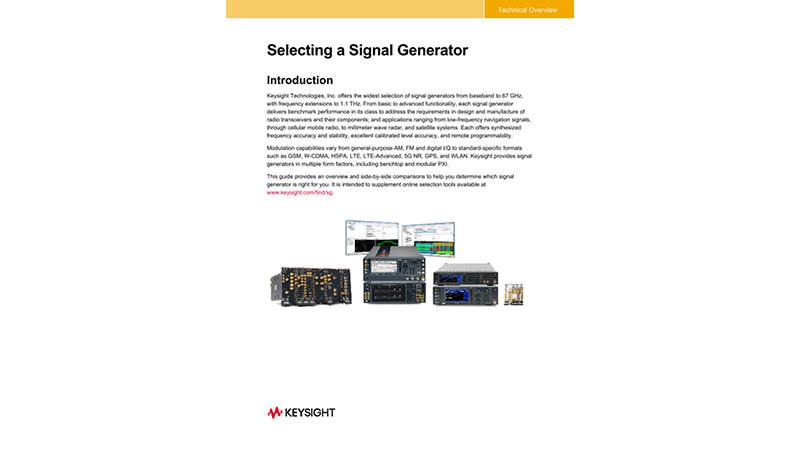 Selecting a Signal Generator