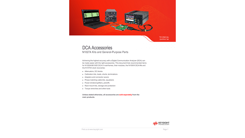 DCA  Accessories N1027A Kits and General-Purpose Parts
