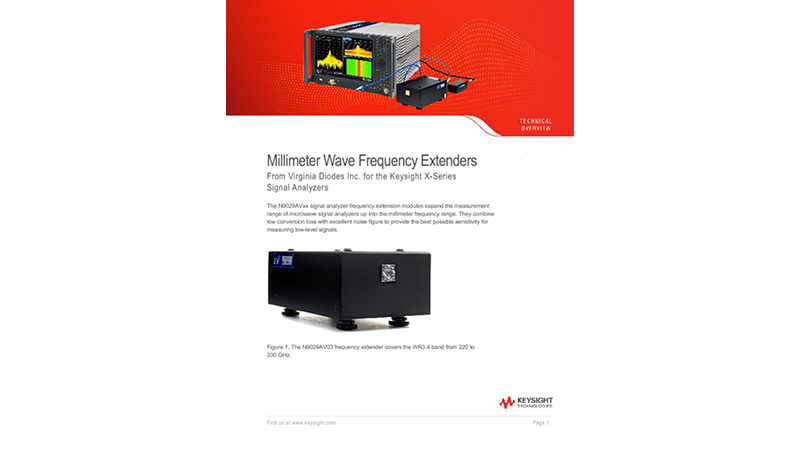 Millimeter Wave Frequency Extenders