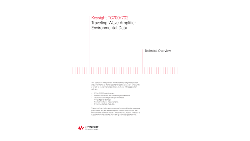 TC700/702 Traveling Wave Amplifier Environmental Data