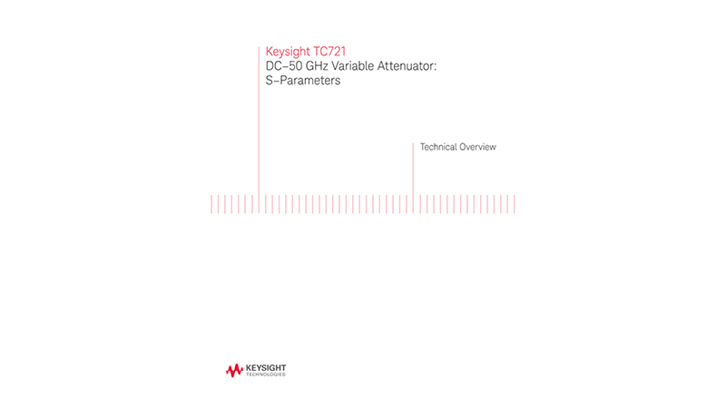 TC721 DC–50 GHz Variable Attenuator: S–Parameters