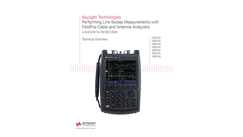 Performing Line Sweep Measurements with FieldFox Cable and Antenna Analyzers