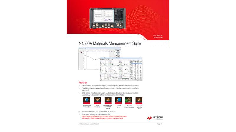 N1500A Materials Measurement Suite