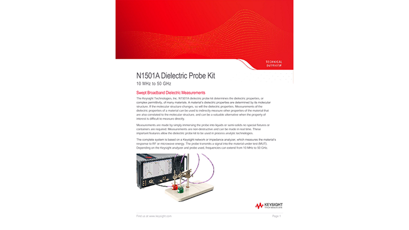 N1501A Dielectric Probe Kit 10 MHz to 50 GHz