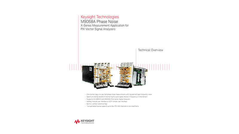 M9068A Phase Noise X-Series Measurement Application for PXI Vector Signal Analyzers
