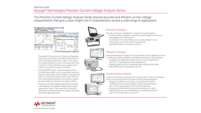Precision Current-Voltage Analyzer Series