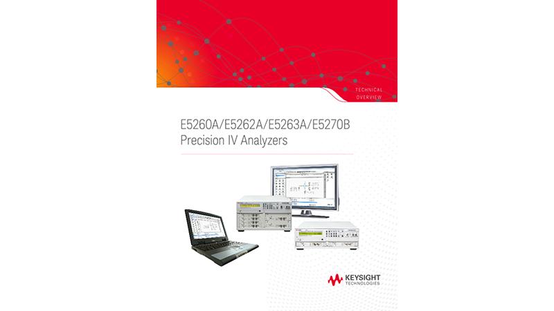 E5260A/E5262A/E5263A/E5270B Precision IV Analyzers