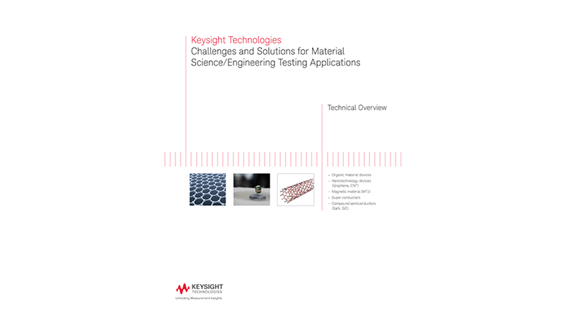 Challenges and Solutions for Material Science/Engineering Testing Applications