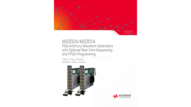 M3202A/M3201A - PXIe Arbitrary Waveform Generators with Optional Real-Time Sequencing and FPGA Programming
