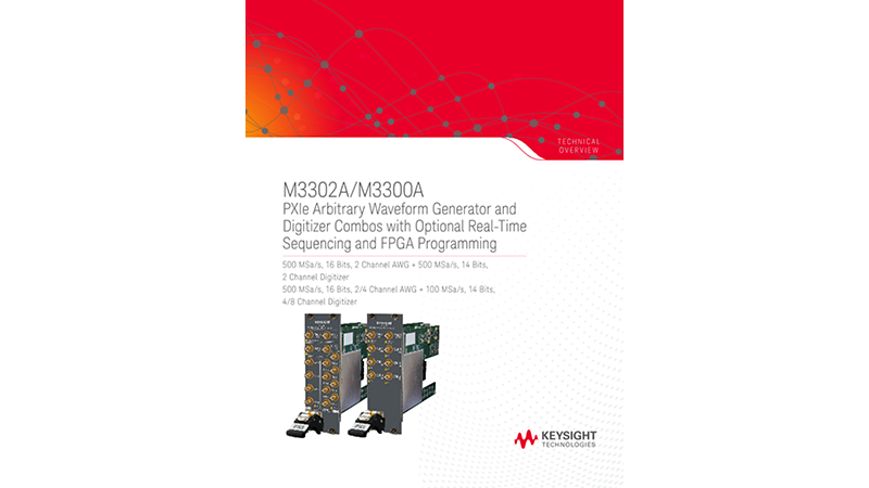 M3302A/M3300A PXIe Arbitrary Waveform Generator and Digitizer Combos with Optional Real-Time Sequencing and FPGA Program
