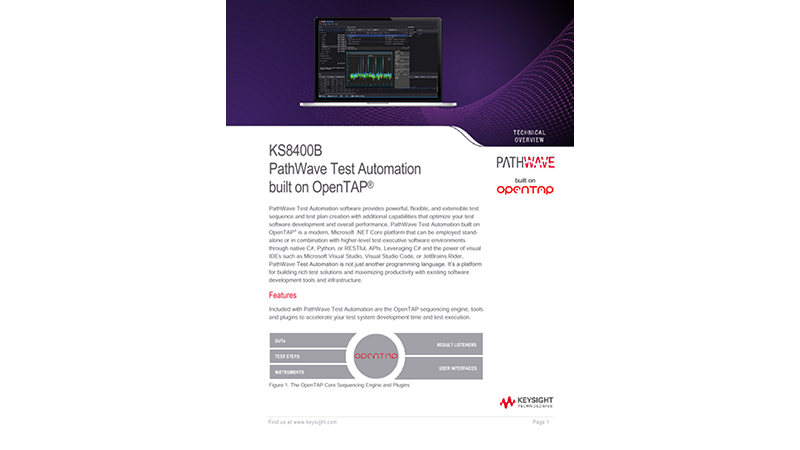 KS8400A Test Automation on PathWave