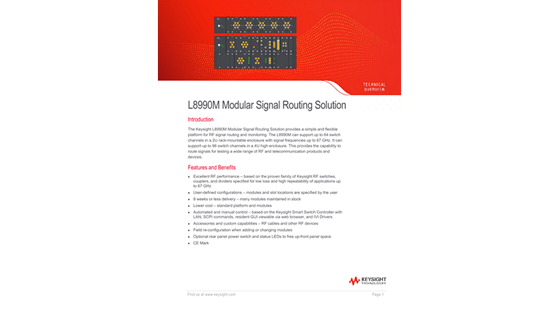 L8990 Modular Switch Matrix Platform