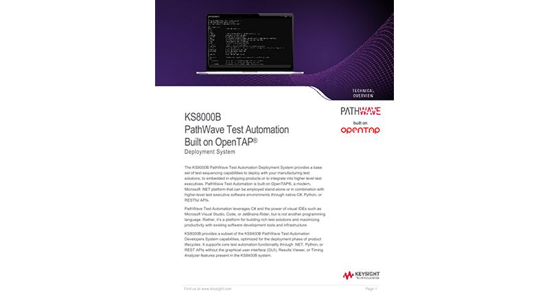 KS8000A Test Automation PathWave Deployment System Software