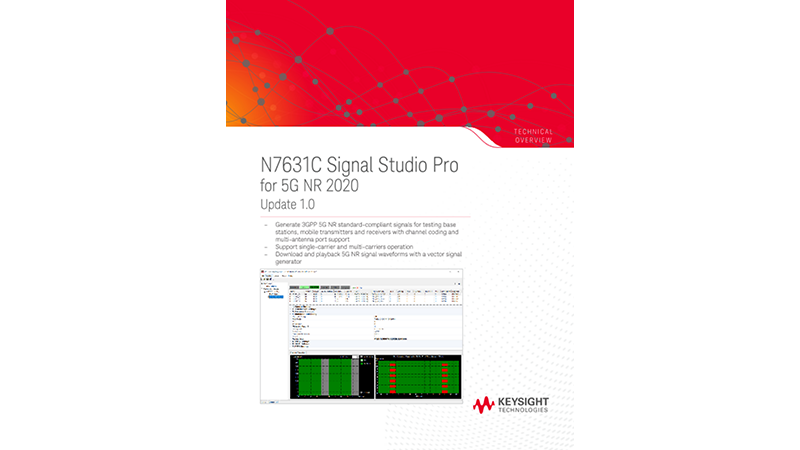 N7631C Signal Studio Pro for 5G NR