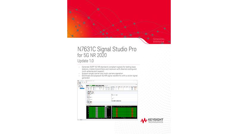 N7631C Signal Studio Pro for 5G NR