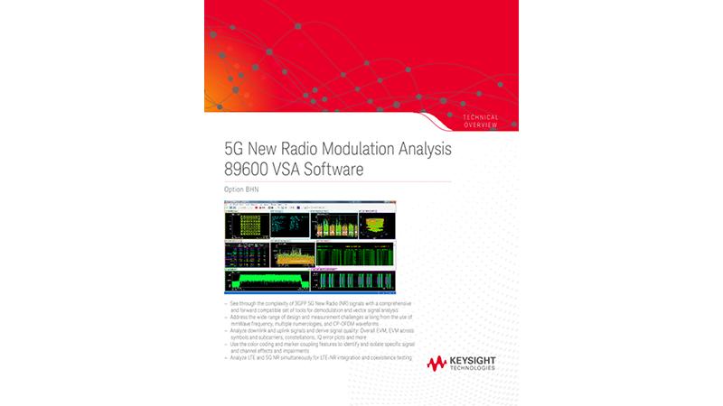 5G New Radio Modulation Analysis Option BHN 89600 VSA Software