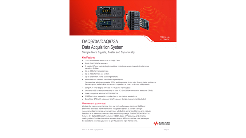 DAQ970A/DAQ973A Data Acquisition System