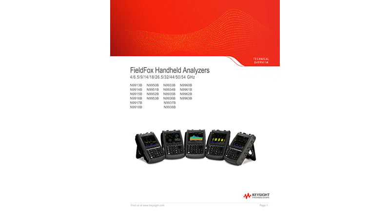 FieldFox Handheld Analyzers 4/6.5/9/14/18/26.5/32/44/50/54 GHz