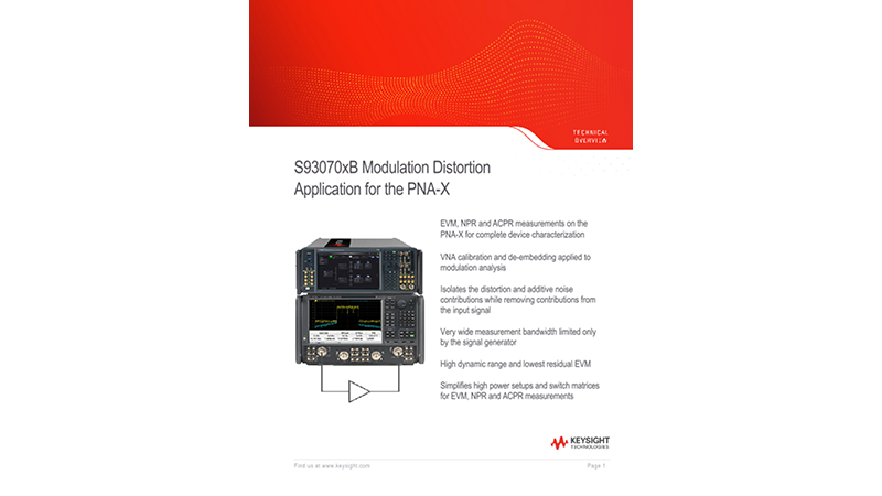 S93070xB Modulation Distortion Application for the PNA-X