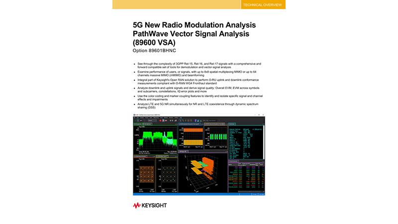 5G New Radio Modulation Analysis PathWave Vector Signal Analysis (89600 VSA)