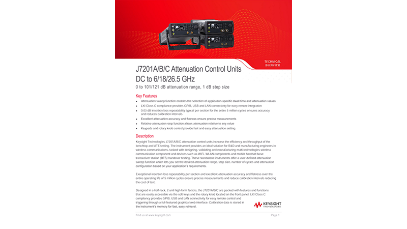 J7201A/B/C Attenuation Control Units DC to 6/18/26.5 GHz