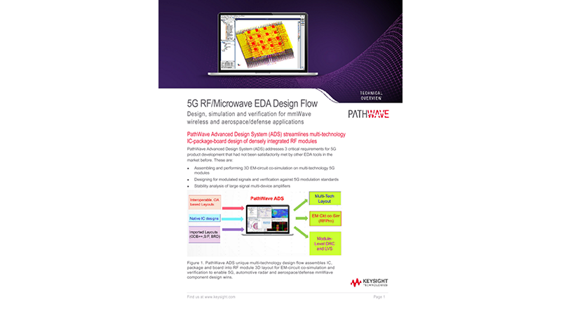 5G Microwave-RF EDA Design Flow