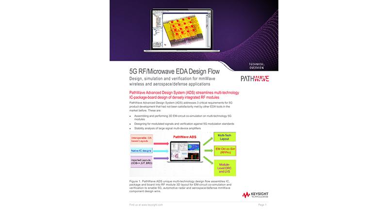 5G Microwave-RF EDA Design Flow