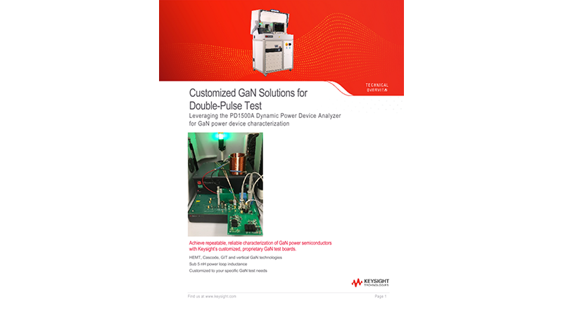 Customized GaN Solutions for Double-Pulse Test