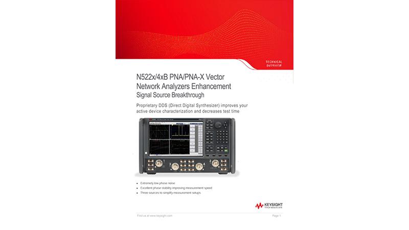 N522x/4xB PNA/PNA-X Vector Network Analyzers Enhancement