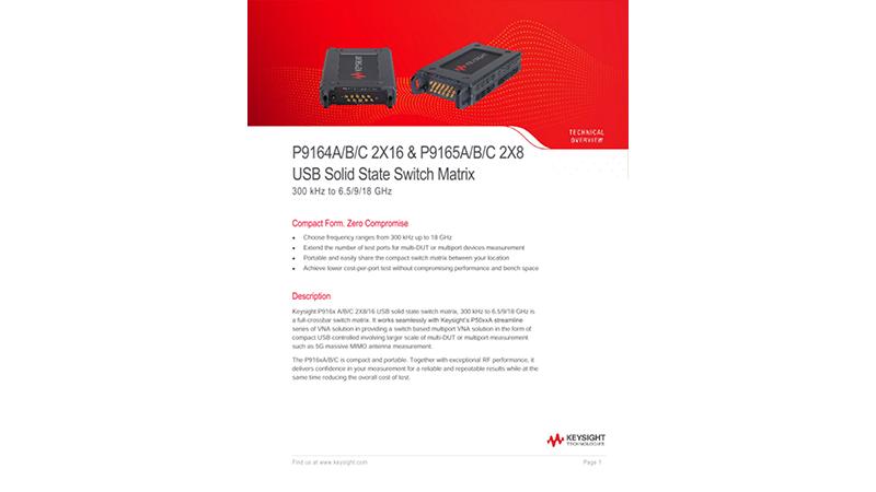 P9164A/B/C 2X16 & P9165A/B/C 2X8 USB Solid State Switch Matrix