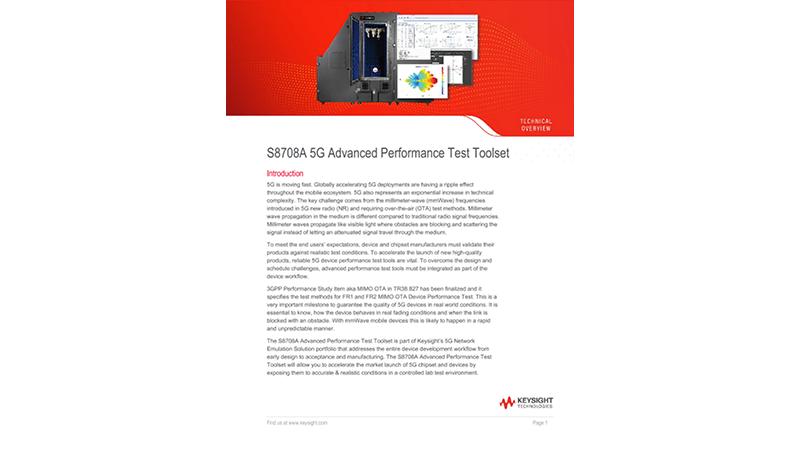 S8708A 5G Advanced Performance Test Toolset