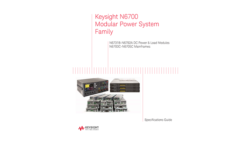 N6700 Series Specifications Guide