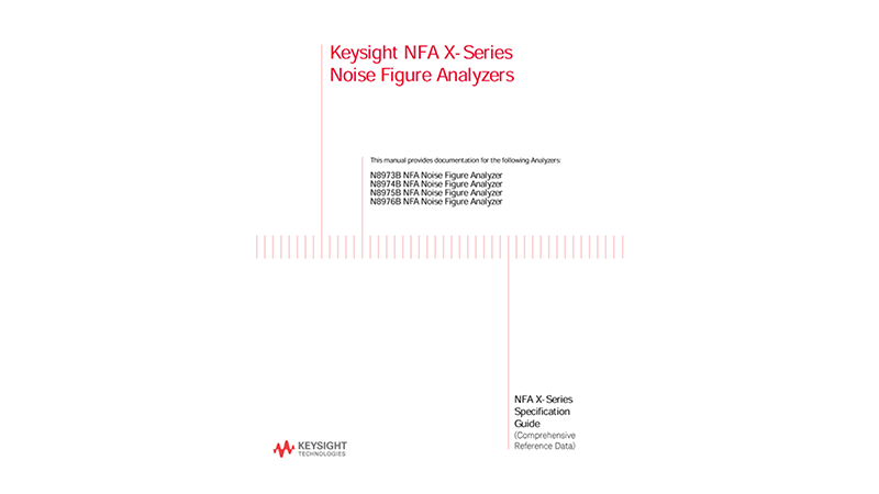 NFA X-Series Noise Figure Analyzers Specifications Guide