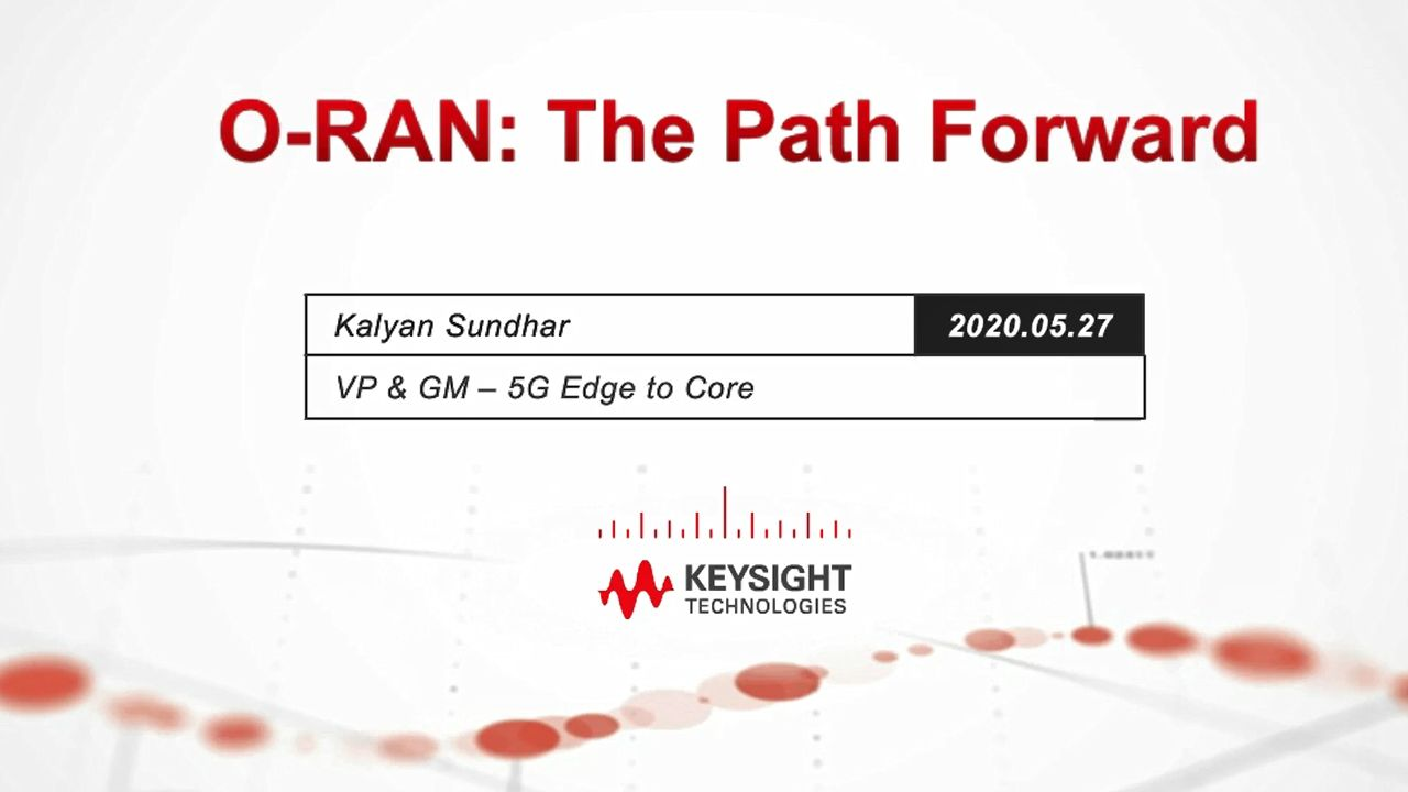 O-RAN for 5G: The Path Forward