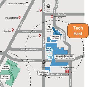 CES 2020 Las Vegas - Location Map