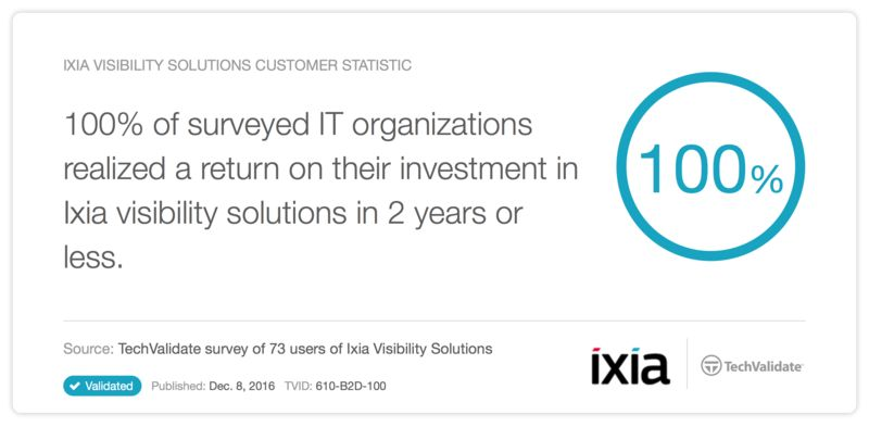 Ixia visibility solutions customer statistic